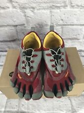 Vibram Fivefingers Red Gray Black with Box Womens 39 US Size 7-7.5