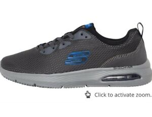 SKECHERS Air 8  Cooled Memory Foam  Dyna-Air Trainers Charcoal/Black new other