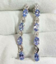 Beautiful Tanzanite Drop Earrings High Quality 3.5 Ct Tanzanite Drop Earrings