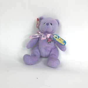 TY Beanie Babies LOVE TO MOM Light Purple Bear May 11, 2008 Happy Mother's Day