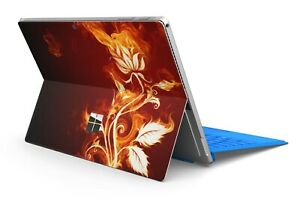 Microsoft Surface Pro 4/5/6/7 Skin Schutzfolie Skins Aufkleber Flower of Fire