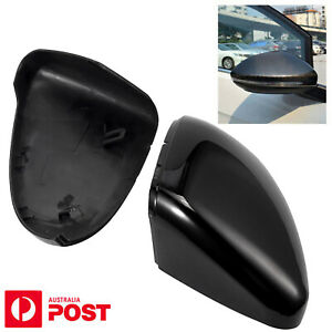 2X For VW GOLF MK7 GTI Wing Mirror Cover Gloss Black Caps Case Shell Replacement