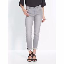 La Redoute BALSAMIK light GREY slim fit stretch cigarette jeans UK 10 EU 38 NEW