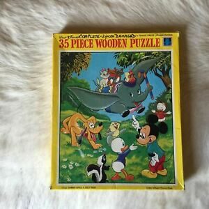 Disney DUMBO GIVES A JOLLY RIDE Jigsaw Wooden Puzzle 35 Piece PLUTO MICKEY MOUSE