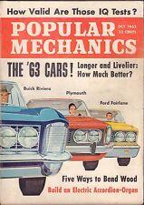 Popular Mechanics Magazine October 1962 Ford Fairlane, Buick Riviera 060616DBE