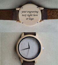 Reloj De Pulsera Regalo personalizado de madera Laser Grabado