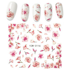 Nail Water Decal Flower Leaf Tree Green Simple Summer  Watermak Decoration