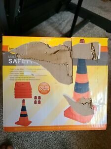 Sunnyglade Multi-Purpose Pop Up Safety Cone - 28 inches - 4 pack