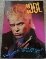 Billy Idol Whiplash Smile Tour 1986 tour programme