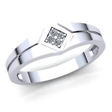 0.4carat Round Cut Diamond Men's Fancy Cluster Bridal Engagement Ring 18K Gold