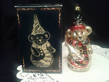 """Boyds Bears """"The GlassSmith Collection"""" Glass Ornament-Retired-Limited Edition"""