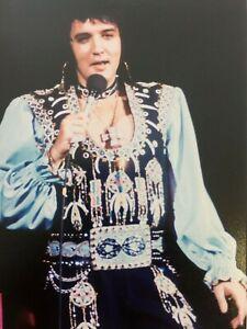 ELVIS PRESLEY ORIGINAL CONCERT PHOTO LONG ISLAND NY  JULY 19 1975  HEIS STAMPED