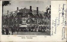 Biddeford MA Hotel Thatcher Decorated c1905 Postcard