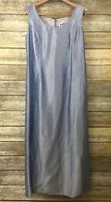 Karen Miller Womens Dress Sleeveless Sheath w/ Jacket Light Blue Mid Calf SZ 12P