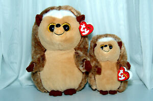 """TY Beanie Boos Lot Classic Hedgehogs 9"""" Ida and 6"""" Ida NEW with Tags"""