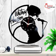 Whitney Houston Clock Vinyl Record Wall Art - Home Decor Ideas - Gifts for Women