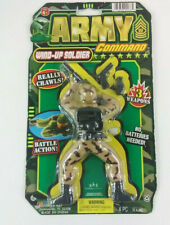 Army Command Wind Up Soldier,With 3 Weapons