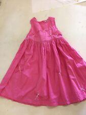 Girl 2 Girl pink Pinafore 100% Baumwolle Ärmellos Kleid 3-4 Jahre Libellen