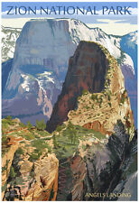 Zion National Park - Angels Landing Poster Print, 13x19