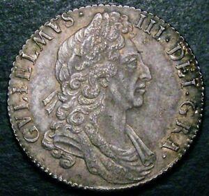 1697 EF William III Silver Shilling ESC 1102 CGS 60