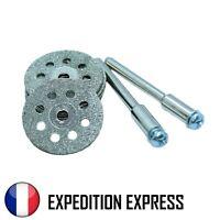 Lot 10 Disques Diamants 22mm Coupe Rail Dremel Accessoire Modélisme Ferroviaire