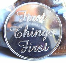 Alcoholics Anonymous Aa First Things First Aluminum Medallion Coin Chip Token