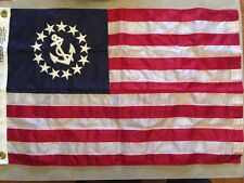 "Boat 16"" X 24"" Nylon Yacht Ensign Flag~Stern Pole~Century Boat~Chris Craft~New"
