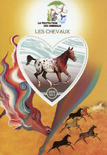 Madagascar 2017 MNH Horses 1v S/S Chevaux Horse Wild Animals Stamps