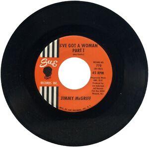 """JIMMY McGRIFF  """"I'VE GOT A WOMAN - Part 1 c/w Part 2""""  1962  LATIN / MOD"""