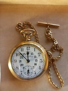 1909 Elgin Gold Plated Pocket Watch
