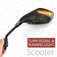 Fist Black LED Mirrors Running Indicator M8 for Yamaha Scooter Motorcycle