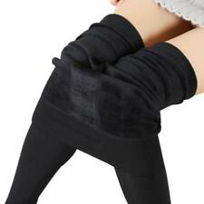 Girls women Blace Leggings Fleece Lined Thermal Winter Warm Stretchy Size S-L
