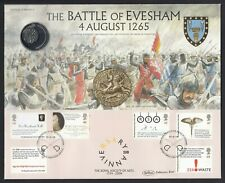 Britain Battle of Evesham 1265 2004 Cover displaying replica coin