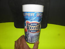 NFL SUPER BOWL 38 LOGO DUELING HELMITS HOLOGRAPHIC IMAGES CUP