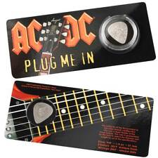 AC/DC GUITAR PICK PLUG ME IN 2019 Cook Islands 1/4oz silver antiqued coin