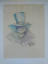 James C. Mulligan HAUNTED MANSION Orginal Art, DISNEY Artist 8.5 x 11 watercolor