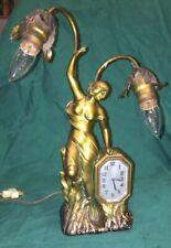 Art Nouveau Schadow & Son Ny Lamp And Clock