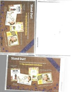 HP Photo Paper Glossy 4 x 6 Lot Of 3 Packs 2 With Envelopes