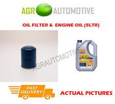 PETROL OIL FILTER + LL 5W30 OIL FOR HONDA CIVIC AERODECK 1.6 125BHP 1998-01