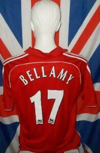 Liverpool LFC Official SS Home Shirt 2006 2007 2008 #17 Bellamy (L)