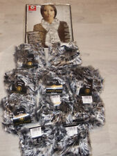 10 x 50 gramm Lanas Stop Seal 101 Luxuswolle in Fell Pelz Optik Garn Effektgarn