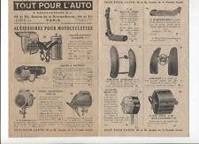 N°10334 / dépliant accessoires pour motocyclette 1927 phares,montres,selles...