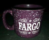 Speckled purple and black Fargo heavy duty used Coffee Cup Mug