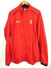 NIKE Storm Fit Pro Elite Team Canada F/Z L/S Red Running Jacket NEW Mens 2XL