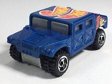 Hot Wheels 1997 Humvee AM General Corp Hummer Metalflake Blue HW Race Team III