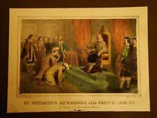 Ricevimento da Re Luigi XIV di Francia Misteri Vita Borbone La Cecilia Anno 1859