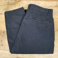H&M LOGG Chino Pants Deep Navy Blue Slim Fit 100% Cotton Slant Pocket Size 32