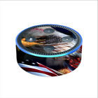 Skin Decal for Amazon Echo Dot 2nd gen / USA Bald Eagle in Flag