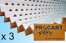 3 x Spray Booth Concertina Pleated Cardboard Paint Filters 1 x 10m - bulk saving