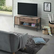 Stretton TV Cabinet with 1 Door & 2 Drawers Rustic Industrial Oak Effect